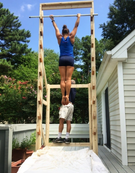 How To Build A Salmon Ladder Squat Rack And Olympic